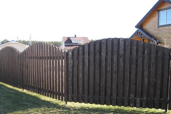 Забор на винтовом фундаменте